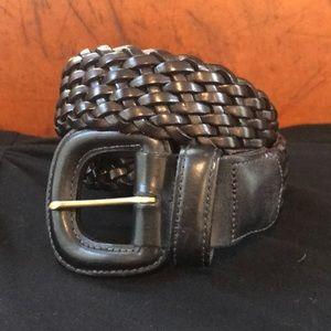 Vintage Coach black leather belt
